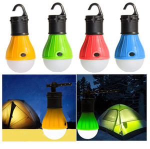 Mini Portable Lantern Tent Light LED Bulb Emergency Lamp Waterproof Hanging Hook Flashlight For Camping Furniture Accessories 3 Colors DHL
