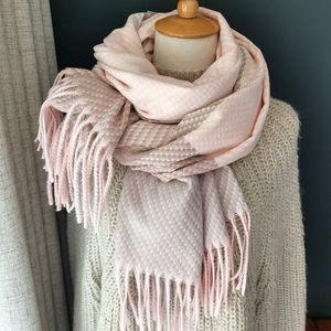 Вязание Кашемир пашмины шарф Длинный шарф с Tessel грелка способа зимы шарфа Роскошный подарок для женщин Ladies T191022