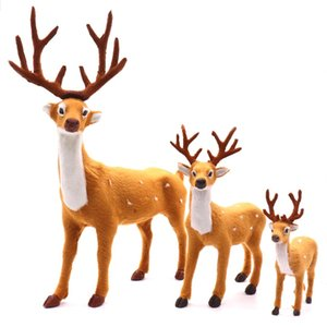 16cm 19cm 37cm New Xmas Elk Plush Simulation Deer New Year for Christmas Decorations Christmas Ornaments Gift for Home