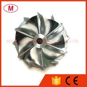 GT15-25 784366-0001HF 43,36 / 56,03 milímetros 6 + 6 lâminas de alto desempenho Turbo tarugo roda do compressor / Alumínio 2618 / roda de trituração por turbocompressor