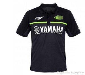 MOTO Yamaha Racing T-shirt Verão lapela curta T Equitação da motocicleta de manga curta Lapel Cotton Casual Polo