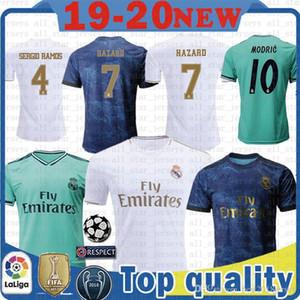 baratos Maillots de futebol Real Madrid Futebol Homens Jersey crianças kits SERGIO RAMOS 4 23 PERIGO DE PERIGO MODRIC BENZEMA MARCELO ASENSIO ISCO Kroos