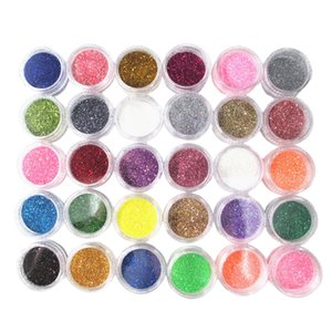 30 Color Colorful Sparkly Glitter Nail Art Powder Manicure Nail Art Kit
