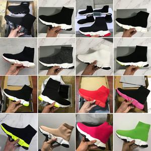 2020 neue Sneaker Trainer Socke Schuhe Mode Top Qualität Triple Schwarz Rot Oreo Weiße Männer Frauen Freizeitschuhe Sport mit Kasten Staubbeutel