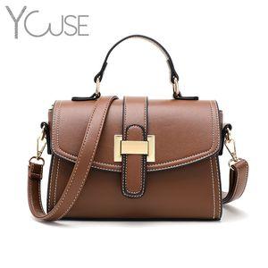 YOUSE Bag for Women 2020 Luxury Handbag Women Bags Designer Solid Leather Shoulder Bag Purse Sac A Main High Quality
