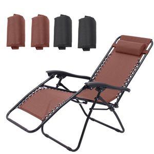 4PZA plegable reclinable Sillas Cabeza almohadilla del amortiguador de aire Inicio Para Tumbona