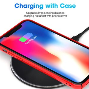 Universal 10W Qi fast Wireless Charger For iPhone 11 pro max X 8 Plus Portable Charging Mini Pad for Samsung Galaxy Note9 Smartphone