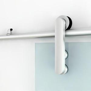 (Etats-Unis Livraison gratuite) porte de douche de porte de grange coulissante en verre coulissant en aluminium matériel kit jeu de rouleaux de piste