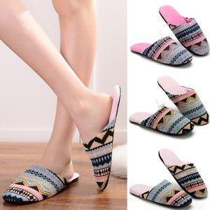 New Mulheres Chinelos Inverno Sapatos Chinelo inferior macia Cotton Non-Slip Andar Shoes Furry interior Slipper Para Casa Início