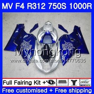 차체 용 MV Agusta F4 R312 750S 1000 R 750 1000CC 05 06 키트 320HM.7 1000R 312 1078 1 + 실버 블루 NEW 1 MA MV F4 05 06 2005 2006 페어링