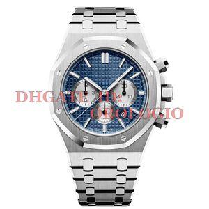 2020 mens relógios Japão movimento VK Chronograph relógios completo 5ATM de aço inoxidável impermeável super luminosa 42 milímetros montre de luxe