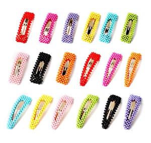 Fashion Girls Pearl Hair Clips Cute Colorful Hairpins Classic Kids Perline Barrettes Party Princess Accessorio per capelli