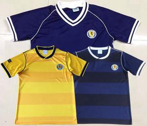 Retro Scotland t shirts 1982 1986 maillots de football Maison ecossaise Maillot de foot retro