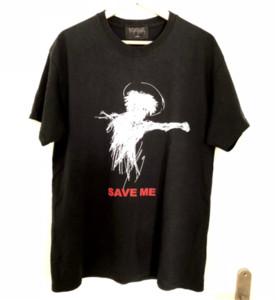 Verano hombre de las camisetas VENGANZA Sálvame Lema Doodle XXXTENTACION largas de la moda de algodón de manga Casual