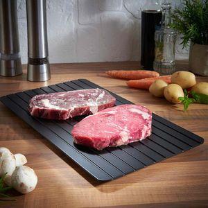 Rapide Décongeler Plateau Dégel d'aliments surgelés viande fruits rapide Décongeler Plate Conseil Defrost Cuisine Gadget outil