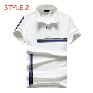 2020 ilkbahar yaz yeni gelgit marka küçük canavar çift F gevşek erkek iş rahat POLO gömlek kısa kollu baskı çizgili