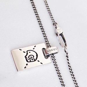 Alta Qualidade S925 Declaração de Prata Colar Elf Taro Pingente presente de Natal de prata colar de jóias atacado de moda