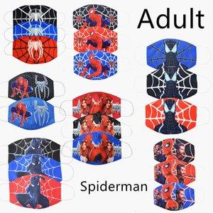 1шт хлопок пылезащитная маска мультфильм Человек-паук лицо респиратор рот Маска открытый лицо рот маска для взрослых человек-паук маска