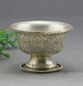 Reine handgeschnitzte Bronze bastelt exquisite Weißkupfer-Reinkupfer-Weingläser für den Cup-Retro-Heimdekorationsgroßhandel
