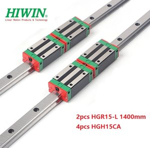 2pcs Nuovo originale HIWIN HGR15 - 1.400 millimetri lineare guida / guida + 4pcs HGH15CA lineare blocchi strette per cnc router parti