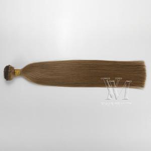 European Medium Castanho Claro Duplo Drawn 100g Remy Virgem trama extensão do cabelo humano
