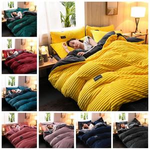 De haute qualité Réchauffez Flanelle et de velours Literie pour adultes Enfants King Size Literie Housse de couette avec drap de lit Taies