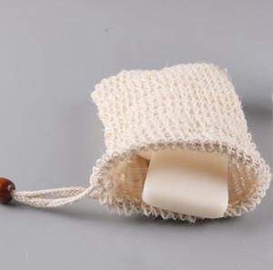 Сетка туалетного мыла мешок экономайзер сумка Durablel Природного мыло для души сумка Exfoliator Sponge Чехла для душа ванны Вспенивания OOA7441-4