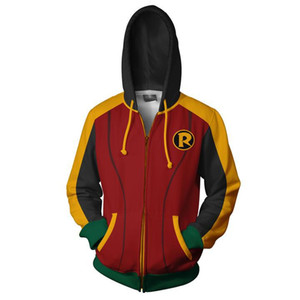 VIP FASHION 2019 Best Selling Cool 3d Printed DC Super Hero Inspector Robin Suits Sweatshirts For Men Cosplay Zipper Hoodies