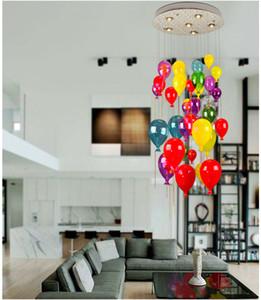 Lampade moderne a LED Lampada a sospensione a palloncino in vetro multicolore per camera dei bambini Soggiorno Luce scale Lampada a sospensione AL121