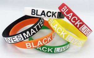 Vidas negro Materia pulseras de silicona muñeca pulseras de la letra de molde de goma pulseras brazaletes LJJK2450 favor del partido