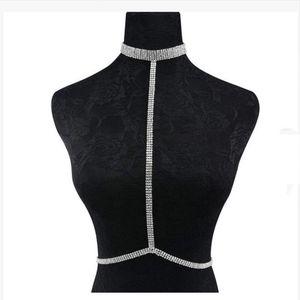 La moda más nueva Sexy Body Chain Harness Crossover Belly Waist Bikini Beach Slave Fashion Jewelry Summer Wear bonito regalo JCK018