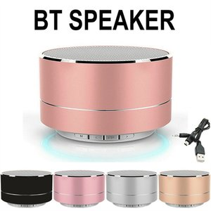 Metal Bluetooth Speaker Wireless Handsfree with FM TF Card Slot LED Audio Player for MP3 Tablet PC in Box