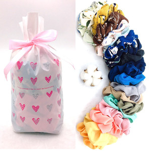 20pc pack Chiffon Hair Scrunchies Girl Floral Print Hairbands Elastic Hair Rope Ponytail Holder Flower Scrunchie Headband GGA2869