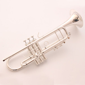 Bach Stradivarius Professional Bb Trumpet TR190S-37 Silver Plated Instrumentos Musicales Mouthpiece