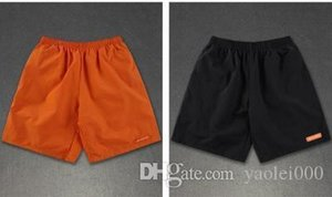 Mens casual shorts summer simple wild solid five-point pants sports beach pants youth fashion straight paragraph