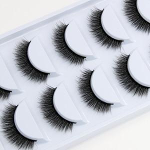 YOKPN 5 Pairs Exaggerated Color False Eyelashes Crisscross Messy Thick Crystal Eyelashes Stage Latin Makeup Fake