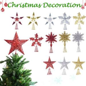 Brillant arbre de Noël Top Star Christmas Tree Top Star Décoration Ornement Pendentif Décoration #EW