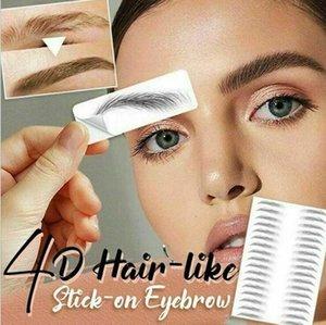 4D Sourcils Tattoo Sticker cheveux Comme faux Sourcils Waterproof Long Lasting transfert d'eau des yeux Cosmétiques Maquillage Brow Stickers