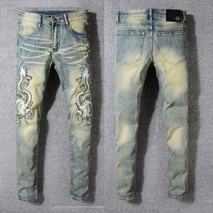 Mens Designer Jeans Men Hip-Hop Biker Jeans Striped Cotton Denim Future crossing Men Jean Casual Pant jeans for men