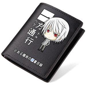 Accelerator Brieftasche Toaru Majutsu kein Index kurze lange Geldbörse Cartoon Leder Geldscheinetui Geldscheinetui Lose Geldbörse Tasche Kartenhalter