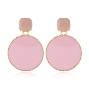 Drop Earrings For Women Enamel Circular Statement Earrings 2020 Candy Color Earring Korean Earings Fashion Jewelry
