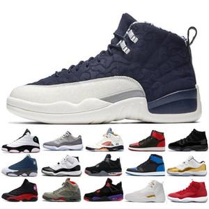 12 12s Chaussures de basketball Hommes Femmes 2019 Nouvelle Salle de sport Rouge Michigan College Marine Classique CNY PLAYOFF Designers XII Sport Sneakers Entraîneurs