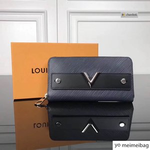 Q4VA 3Zippy zipper WOMEN REAL LEATHER LONG wallet CHAIN WALLETS COMPACT PURSE CLUTCHES EVENING KEY CARD HOLDERS