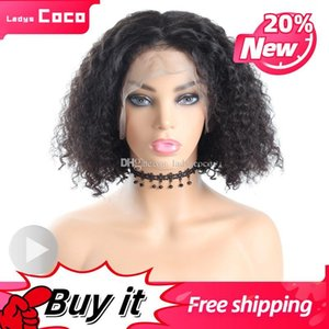 Womens Color Optional Wigs Jerry Curly Bobo Brazilian Human Hair Lace Front Best Remy Wigs Hand Made Luxury Lace Front Wig Human HairWomens