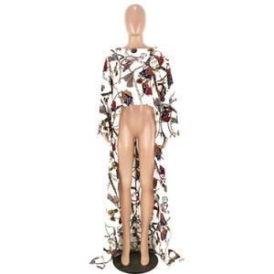 골드 체인 인쇄 짧은 전면 긴 돌아 가기 패션 블라우스 짧은 소매 티셔츠 불규칙한 긴 여성 빅를 들어 탑