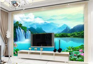 Пользовательские фото обои 3d обои фрески Идиллический альпийский протекающий лес пейзаж настенная гостиной ТВ фон обоев домашнего декора