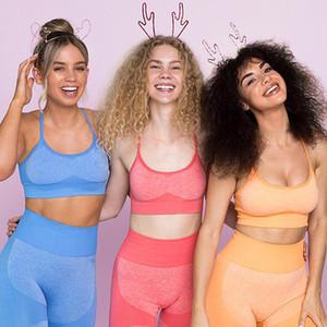 Taoyekma Fitness Kleidung Yoga Sport-BH Tight Fit Unterwäsche Gather Together Beauty Zurück Geschwindigkeit Dry Jogging Yoga Kleidung Anzug