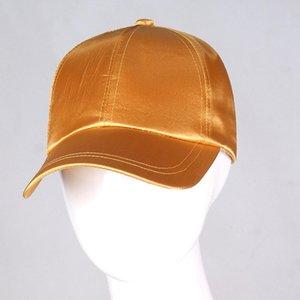 Silk satins Baseball Cap parti Cap soleil Voyage chapeau de loisirs hommes femmes plage soleil en plein air de couleur unie chapeau LJJA3652