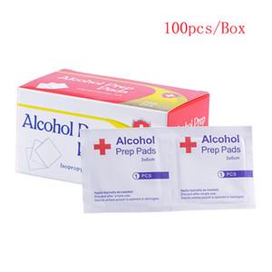Mini alcol Prep Pad 3 * 6cm Mini Disinfezione dipe 100pcs / pacchetto a gettare di disinfezione Pad esterna della casa di corsa del DHL