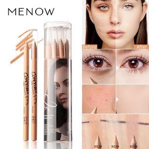 12PCS SET Menow concealer pen P137 wooden handle soft cream brighten beige natural color waterproof face contour pen